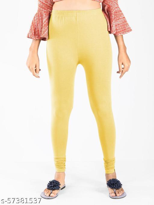 Indian flower soft cotton churidar length leggings for womens