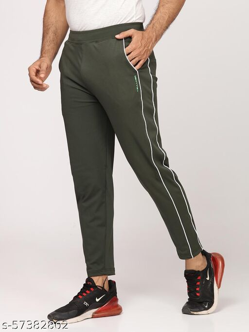BULLMER Mens Olive Sportswear / Athleisure / Activewear Track pants for Men with stretch