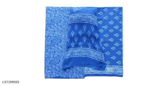 Cotton Printed Salwar Suit Material With Chiffon Dupatta