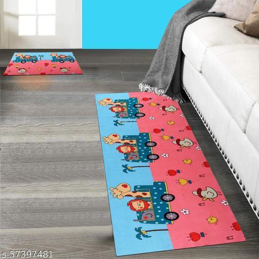 DNK PRODUCTS Kitchen Floor Mat & Runner with Anti Skid Backing, Set of 2 (40 x 120 & 40 x 60 cm) Multi Desgin 13  Kitchen Mat