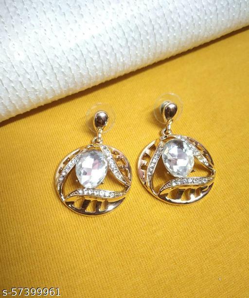 Rose Gold Plated Crystal Earrings For Girls & Women