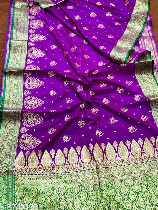 Banarasi silk satin with embriodary