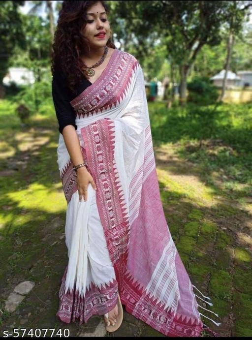 Datpar khadi cotton saree