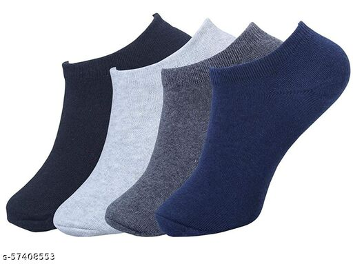 TP  Unisex Solid Shoe Liners Socks  (Pack of 4)