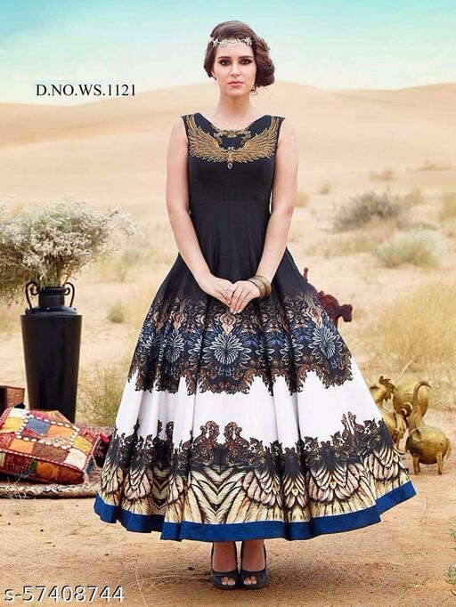 Designer Embroidered Long Gown