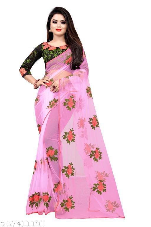 Designer Embroidered NET Saree