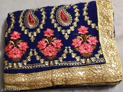 Buy Flower Work Saree with border lases