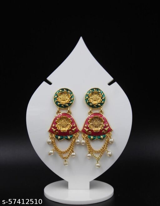 Beautifully Enamelled Traditional Jhumki Earring For Women and Girls
