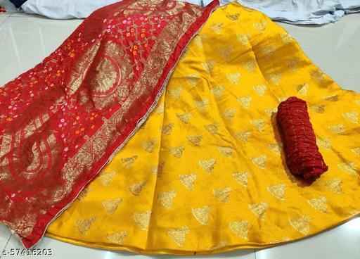 Ashika Fashion Banarsi Brocade Silk Lehenga With Garchola Dupatta and Silk Zari Blouse