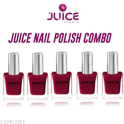 JUICE Glossy Nail Polish Red Pack of 5