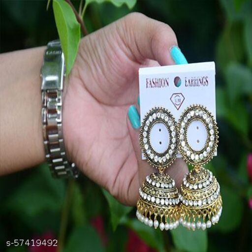 golden circular earings