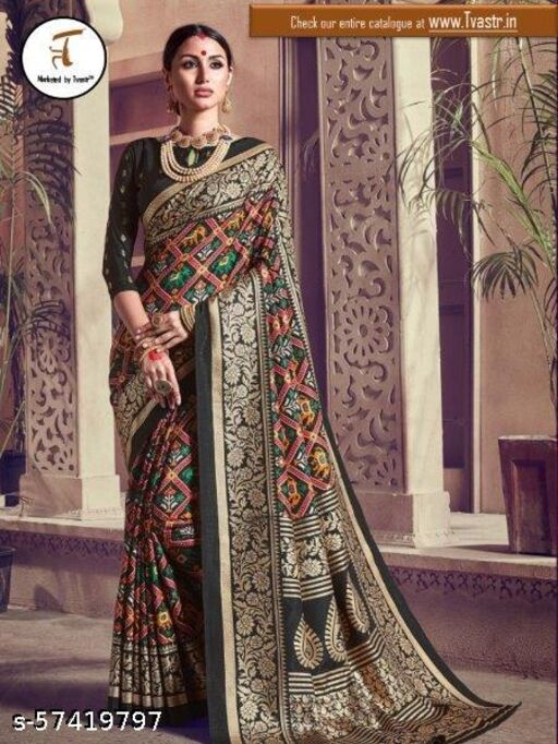 Gujrat's Patola Kanjeevram Silk Saree