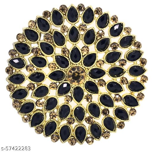 A.R. FASHION Ring for Women Stylish Adjustable 1 Pc - Traditional Ethnic Wear Black Stone Ring