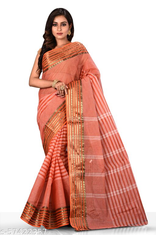 Buymyethnic Handloom Pure Cotton Tant Saree for Women