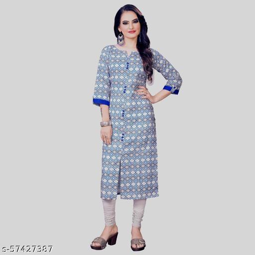 Women solid  Pure cotton Anarkali Kurti