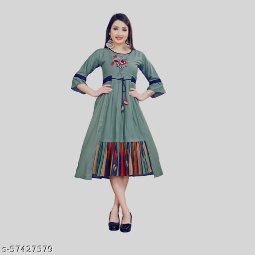 WomenPure  Rayon Anarkali Kurti
