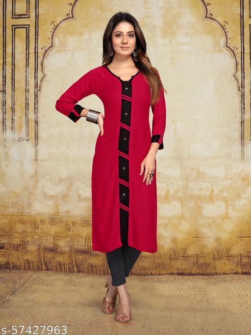 gosriki fancy color reyon plain kurti