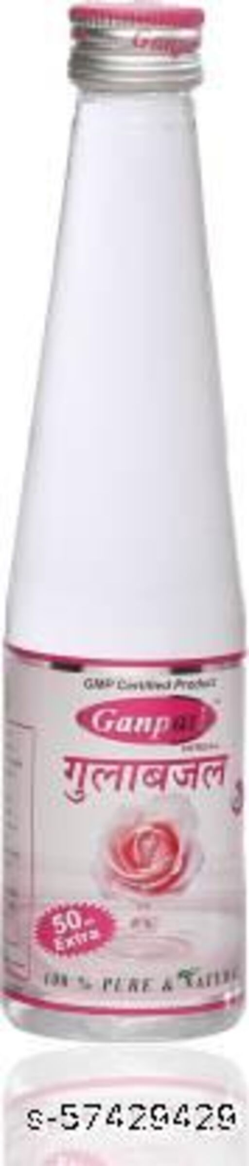 Ganpati Herbal Rose Water/Gulab Jal For Men And Women 250+50ML Pack of 300 Ml For Soft And Smooth Skin