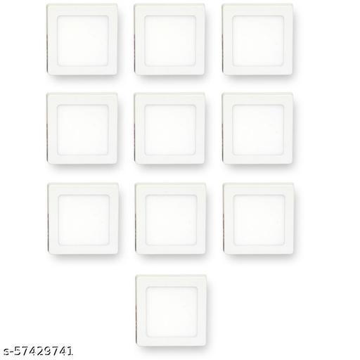 D'Mak 6W LED Square Surafce Panel Light Color-White (Pack of-10,White)