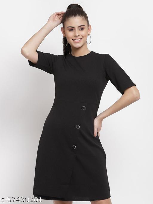 Style Quotient Women Black Sheath Dress