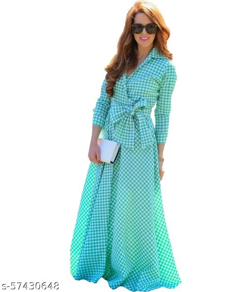 DClub  Women's Fit And Flare Fancy Cotton Western Checks Dress