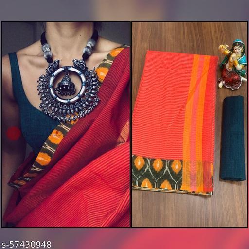 Linen Cotton Digital Printed Saree with Banglori Blouse with Pelan work
