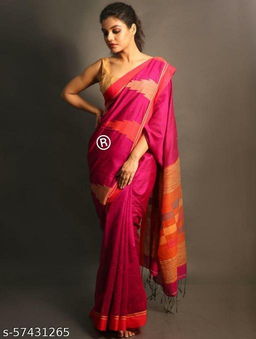 handloom ikkat work saree