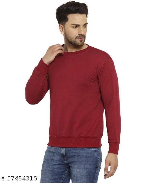 Fleece Solid Sweatshirt