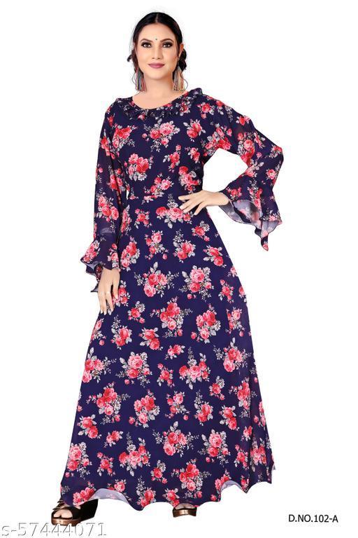 SVENCY Women's Floral Print Long Gown