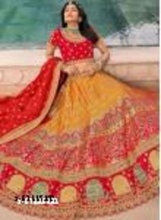 Embroidered Attractive Party Wear Silk Lehenga choli