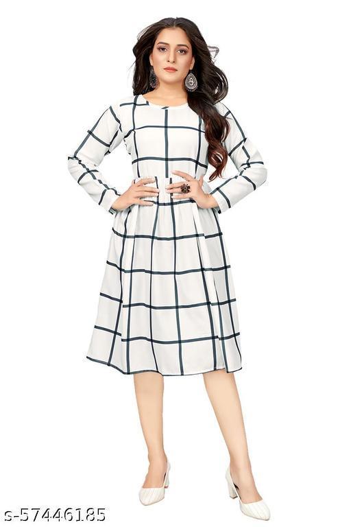 DClub  Women's Fit And Flare Fancy Western Cotton Midi Dress