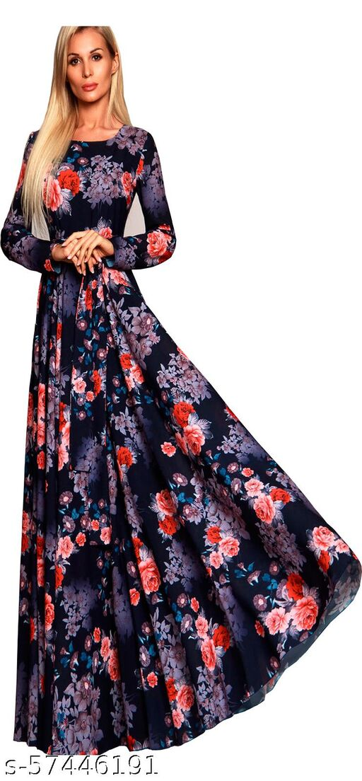 DClub Women's Fit And Flare Fancy Cotton Western Gown