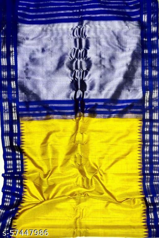 MUSTEARD AND BLUE GADWAL PURE PATTU SAREE