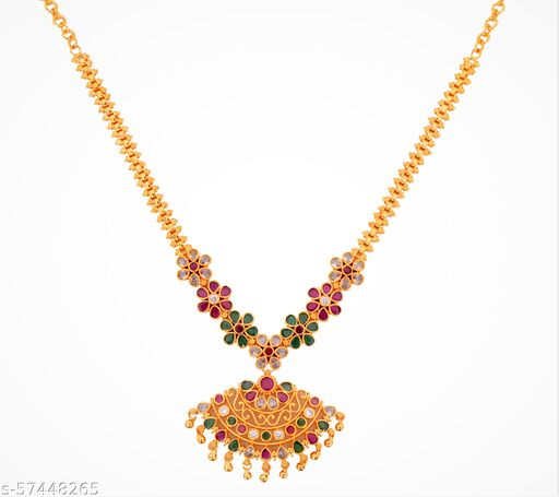 Gold Plated Flower Necklace for Women