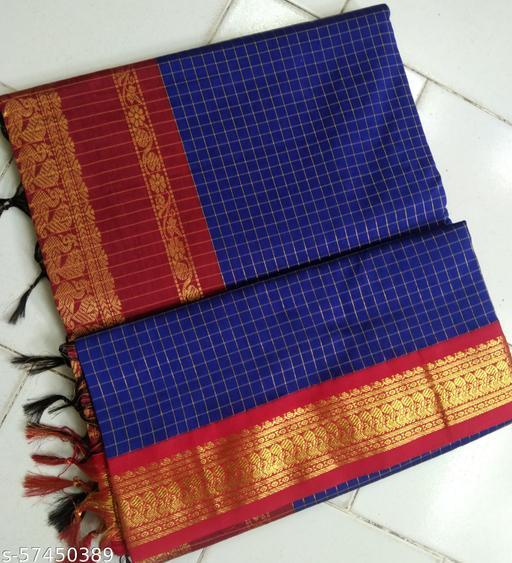 Kalyani cotton checks saree
