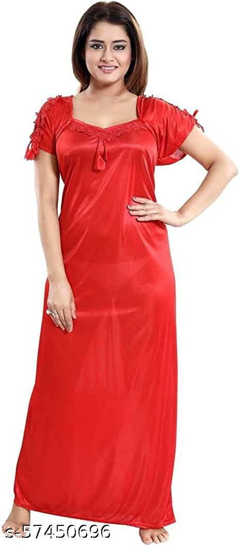 Zoroo Women's Satin Nighty ll Nightwear (Free Size)