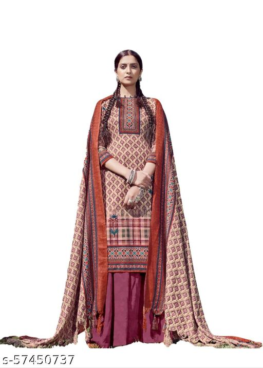 Therajputfashion Unstiched Designer Pashmina Dress Material for women's With Digital Print… Suits & Dress Materials