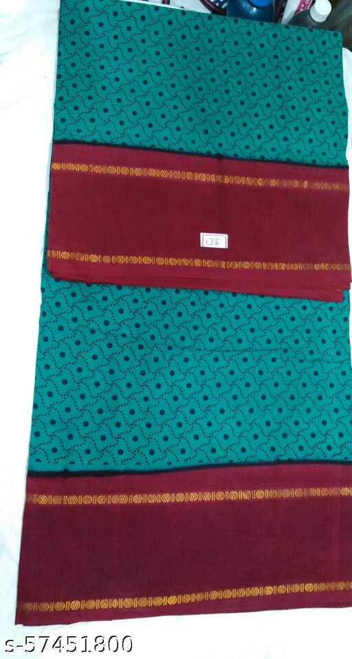 Madurai Maruthi OSP Sungudi Sarees - 10 Yards Sungudi Madisar Saree with Running Blouse - 11