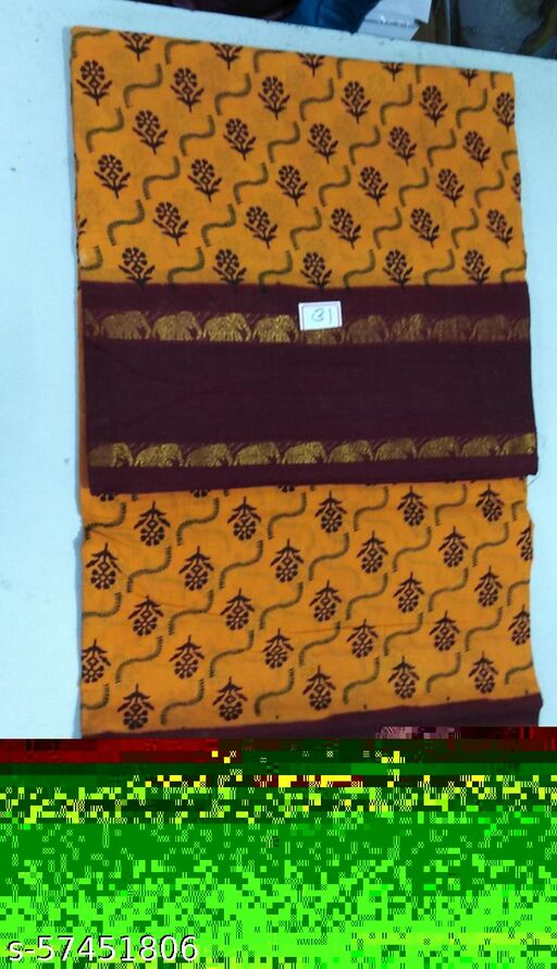 Madurai Maruthi OSP Sungudi Sarees - 10 Yards Sungudi Madisar Saree with Running Blouse - 7