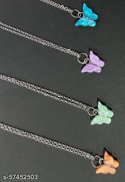 butterfly chains for women stylish