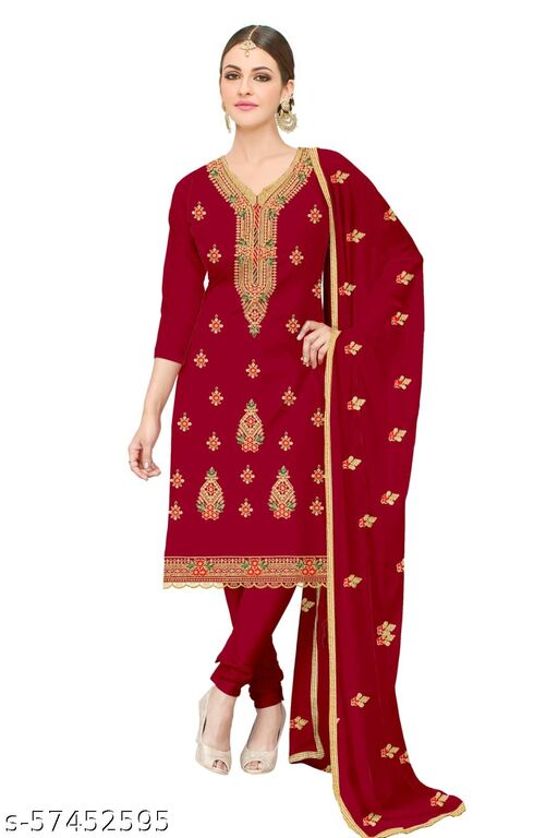 Adesh Enterprise beautiful embroidered Work Semi stitchied Suit
