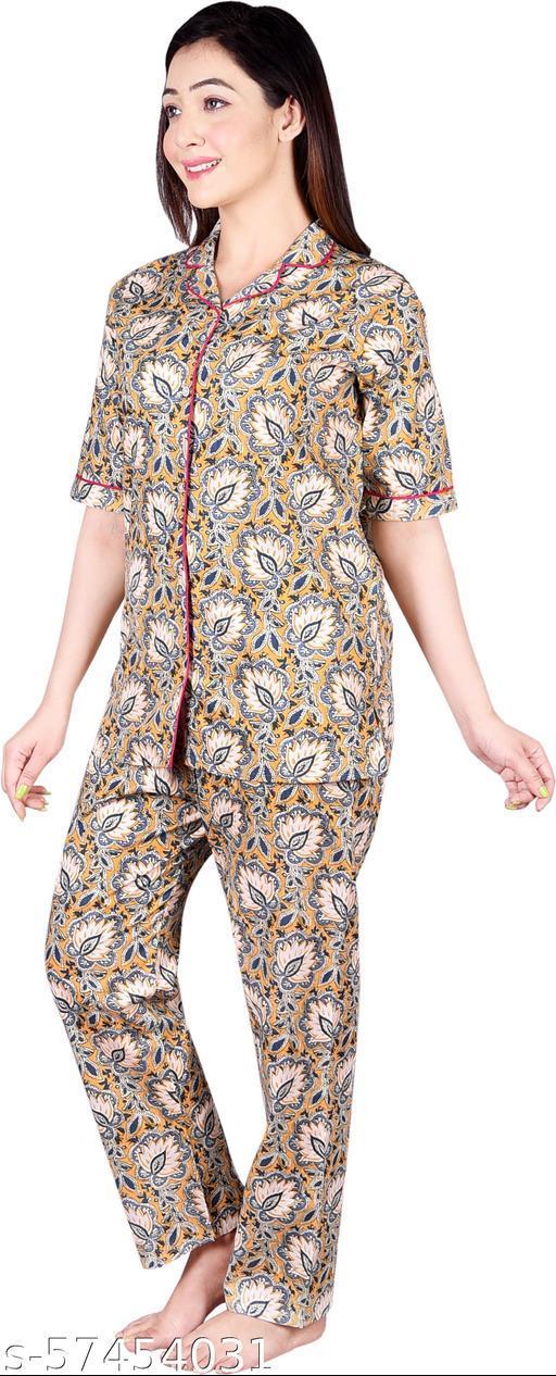 ANVIYA Women Multicolor Cotton Nightsuit, Nightdress