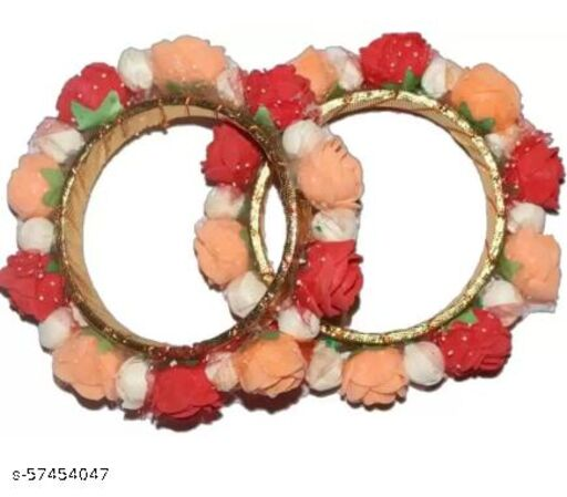Fabric Silver Ring Bracelet  (Pack of 2)