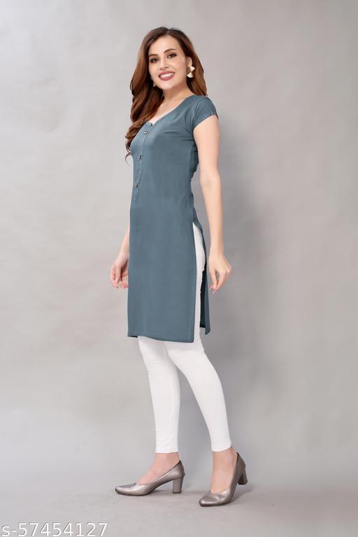 Women's wear exclusive trendy and latest fancy casual Reyon Kurti
