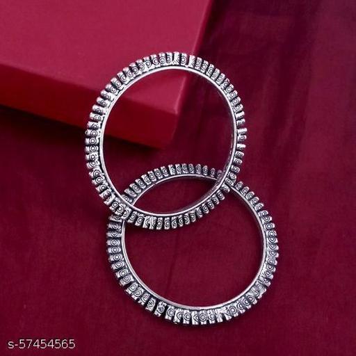 German Silver Kolhapuri Bangle set of 2 piece for Women & Girls - Emblish Baala (2.6)