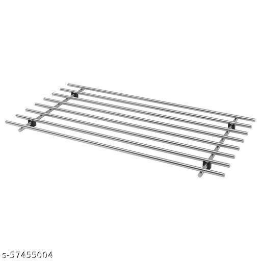 SAIFIX® Steel Kitchen Stand Trivet Worktop Stand Storage Organizer Heat Resistant for Dining Table Hot Pot, Pan, Bowl etc.(50 L x 28 W x 5 H CM's, 3004)