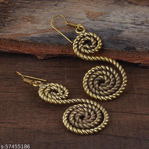 Handmade Snack Shape S Letter Gold Plated Fashion Women Dangle Drop Earrings 60% OFF