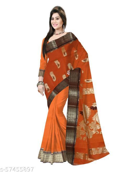 Pradip Fabrics Ethnic Women's Tant Cotton Zari Par Saree