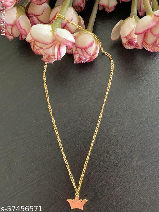 kalakari dainty enamel charm chain necklace