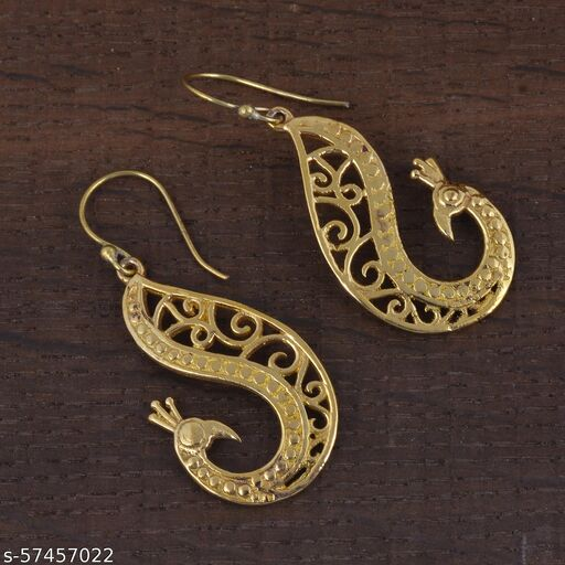 Peacock Shape Gold Plated Earrings for women Fashion and Festival Jewelry In Low Price With Diwali Great deals